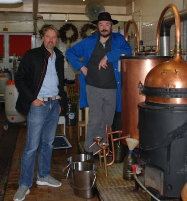 Pontarlier, Claude-Alain at his distillery