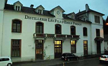 As the evening draws in I take a brief tour of the Emile Pernot distillery and have chat