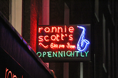 Ronnie Scotts Jazz Club neon sign