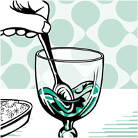 Bohemian serve stirring absinth