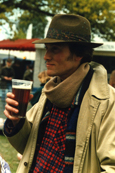 George Rowley enjoying a pint