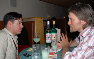 George Rowley of La Fée Absinthe & Sasha Petraske of Milk & Honey