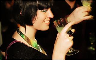 Lady Jane with glass of La Fée parisienne absinthe