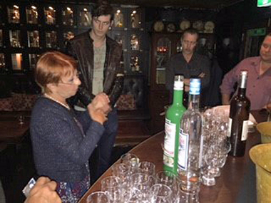 Marie-Claude Delahaye with La Fée absinthe