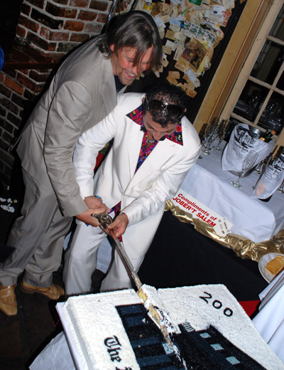 200th Anniversary cutting cake of Old Absinthe House New Orleans