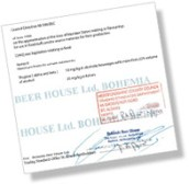 Trading Standards Document for Bohemia Beer House Ltd