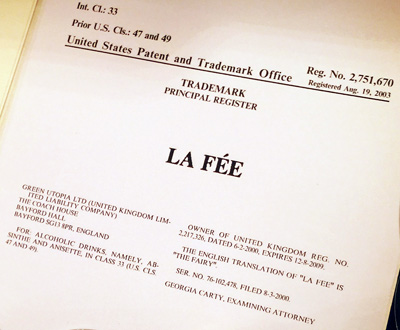 USA trademark for La Fée