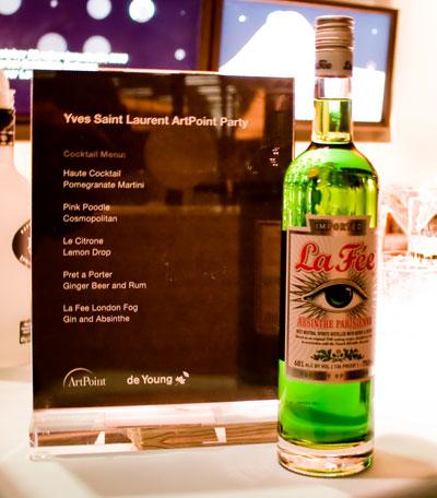 Yves Saint Laurent with La Fée absinthe