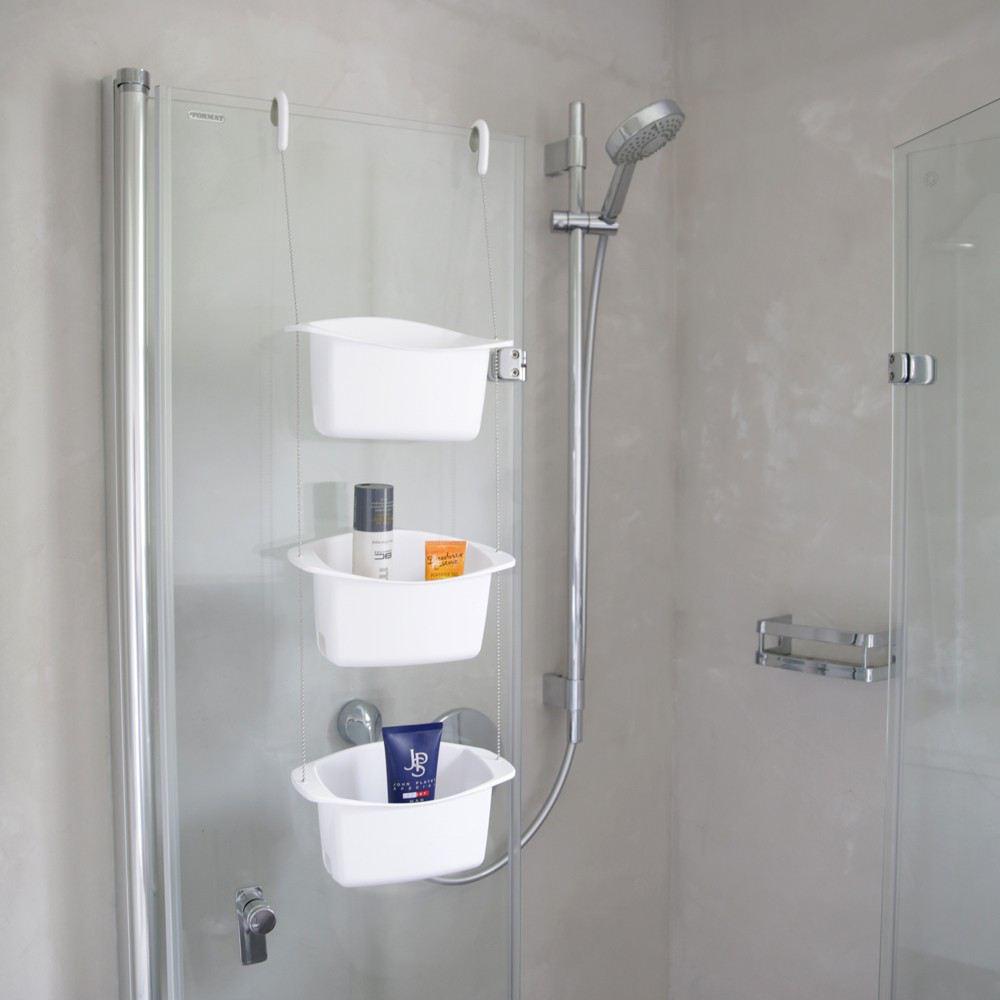 Shower Caddy Oasis weiß Duschablage Dusche Regal Ablage Ablagekorb Duschkorb Duschregal