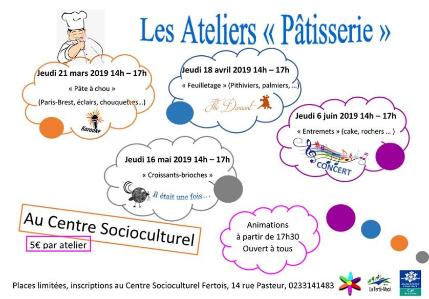 Ateliers Pâtisserie 2019