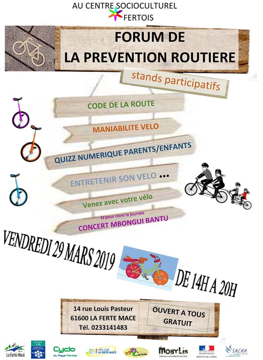 Forum Prévention Routière - Mars 2019
