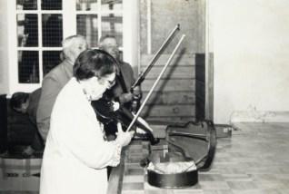 Odette Gatignol et André Gatignol au violon