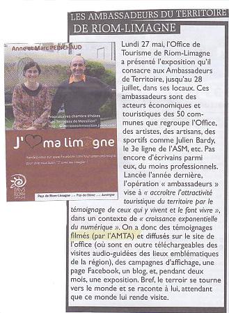 Article Riom Annonces Ambassadeurs