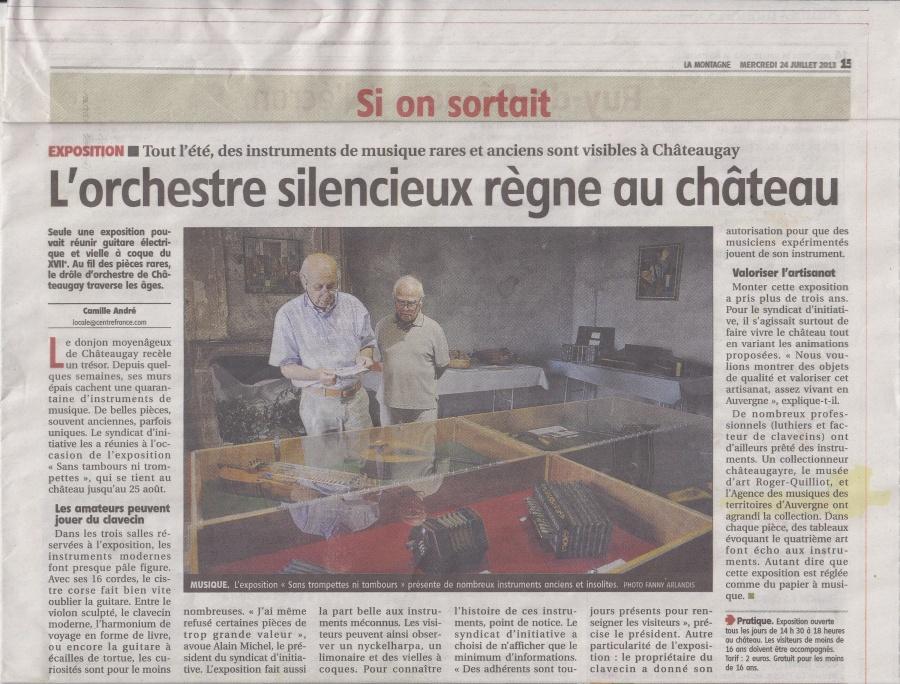 Article La Montagne Expo Pont du Château