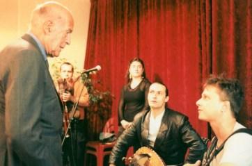 Le Trio, avec Anne-Lise Foy, rencontre Valéry Giscard d'Estaing à l'AMTA...