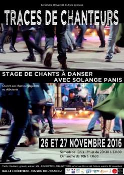 Affiche Traces de Chanteurs