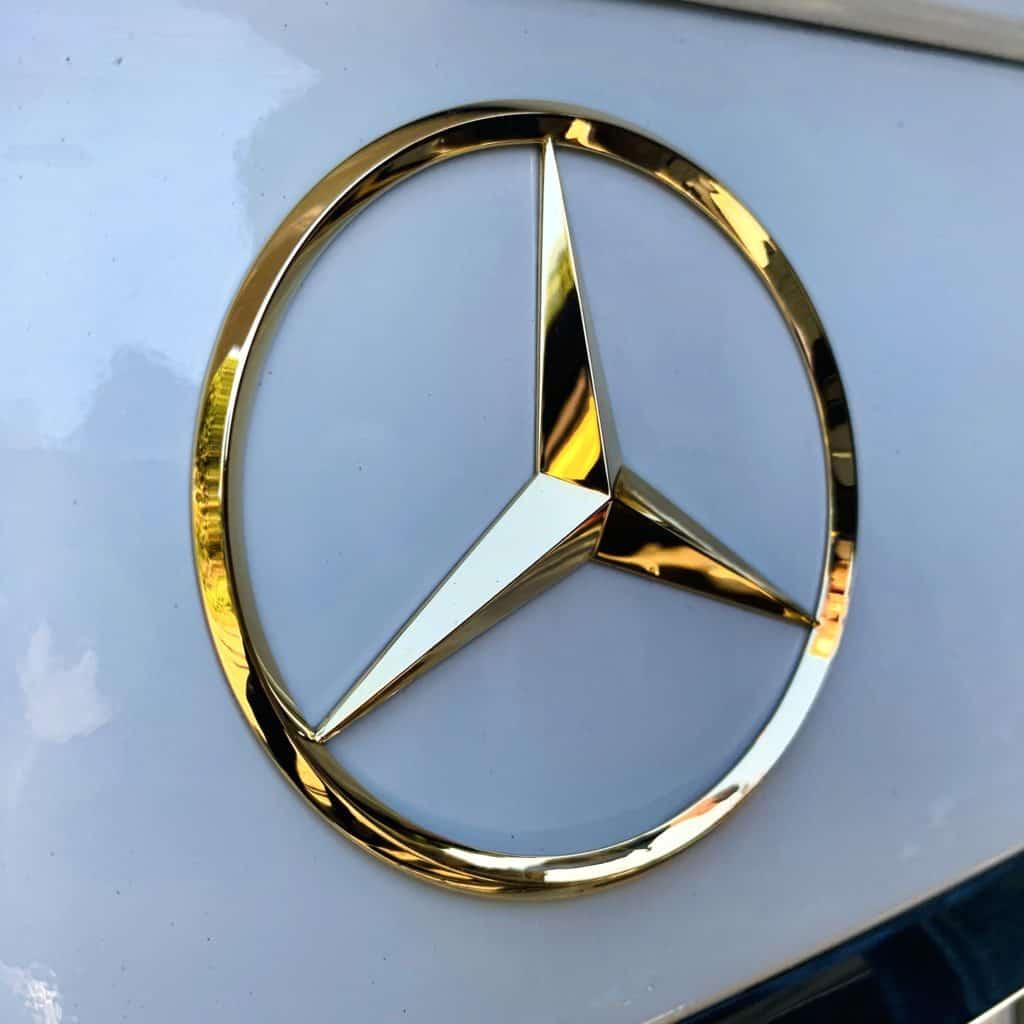 Mercedesstern Heckklappe vergoldet