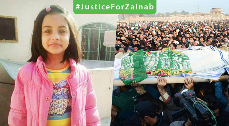 #JusticeForZainab -Zainab Ansari - 7 Year Old Raped & Murdered Brutally