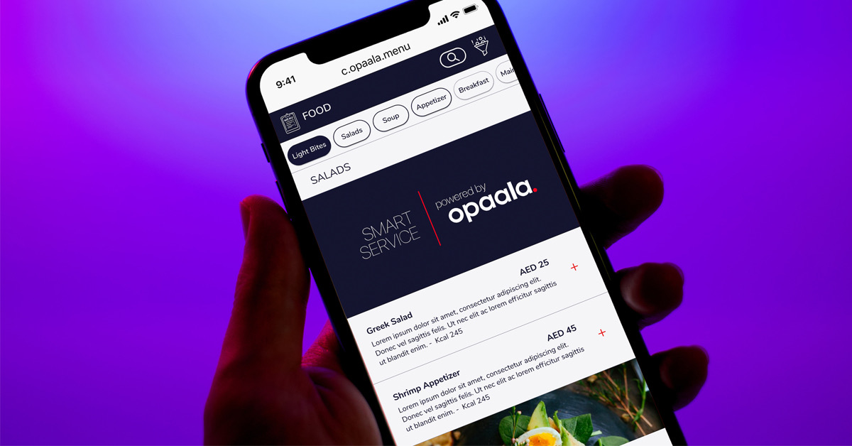 Opaala - Dubai's hospitality startup boosting F&B venue Sales through its Smart Service