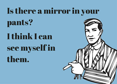 The Funniest Pick Up Lines Ever - Is There A Mirror