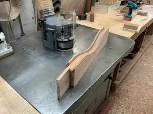 Curved Door Top Rail - in production