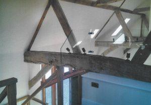 Inside roof