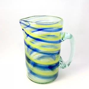 jarra para bebidas azul amarillo
