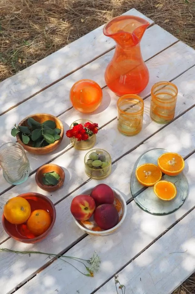 Tableware Menaje de Mesa Mediterraneo Naranja Lafiore.com  - The colours of life in Majorca