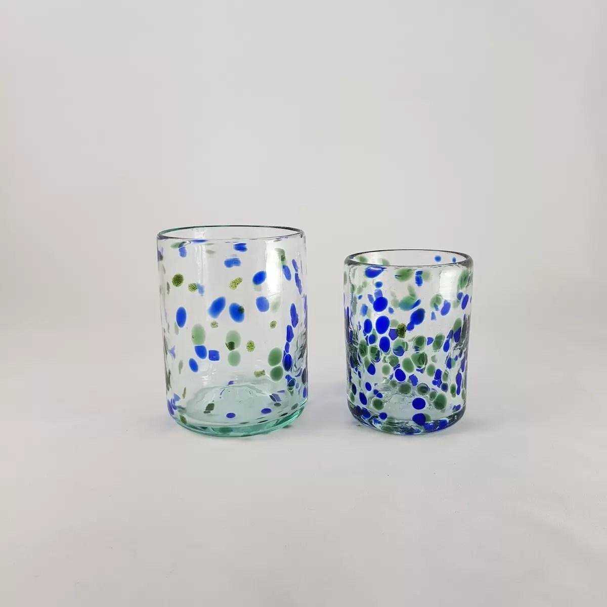 Vasos Vidrio Mallorca Lafiore.com  - Glasses with Colour and Style