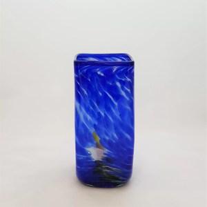 florero azul vidrio lafiore mallorca