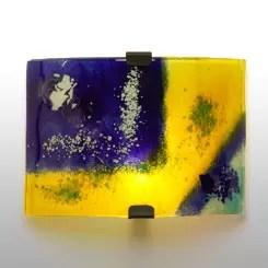 aplique pared amarillo ondulado