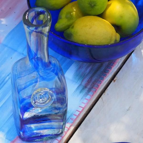 Botella de Vidrio Hecha a Mano Lafiore