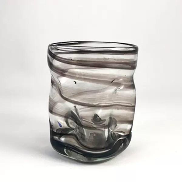 vaso de vidrio deia aguas nero