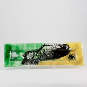 bandeja tricolor vidrio mallorca