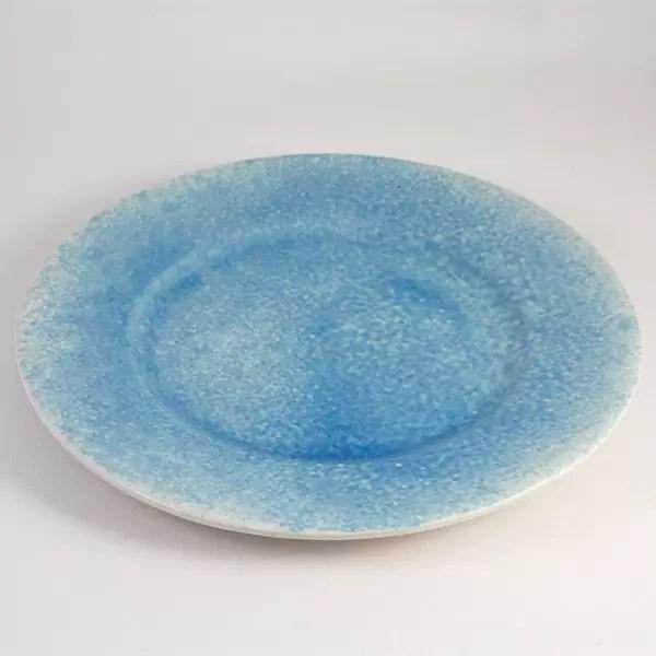 Plato Celeste Ceramica de Mallorca