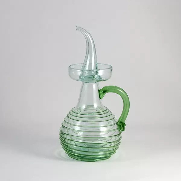 oil decanter premium green
