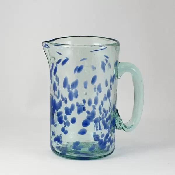 jarra de vidrio Mar Azul