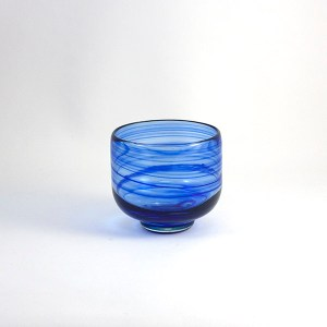 Cuenco Vidrio Cristal Azul
