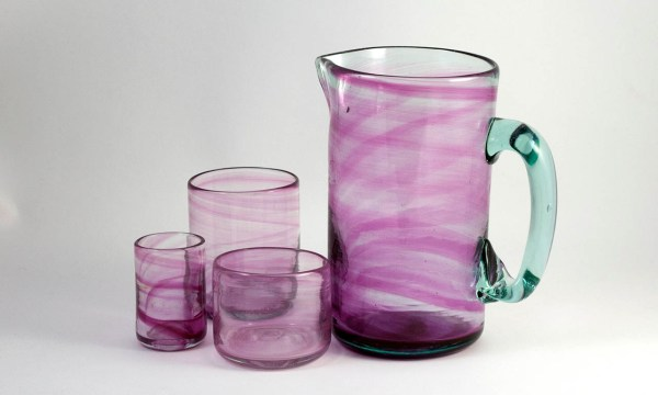 Vidrio Rosa Pink Glass Pitcher