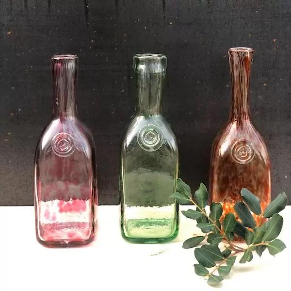 botellas glass bottles flasche glas lafiore - Bottle Pink Glass