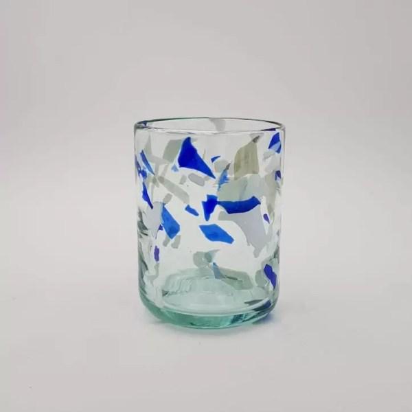 vaso glass terrazzo blue - Glass Terrazzo B