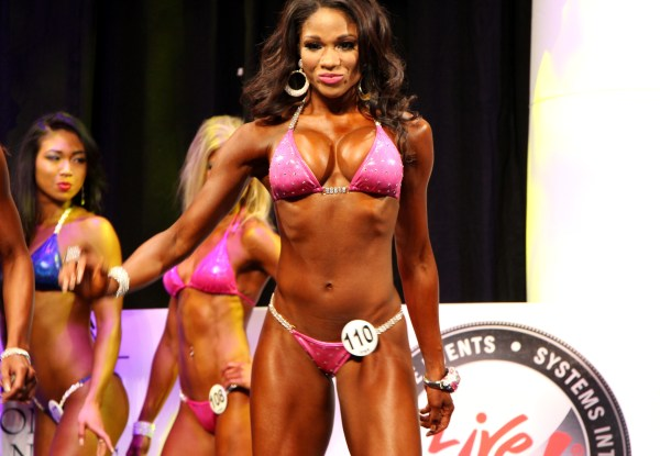 Denita Poses on stage at the Arnold Sports Festival 2013 -D