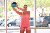 Danica performing figure eight at LA Fitness - 4