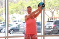 Danica performing figure eight at LA Fitness - 6