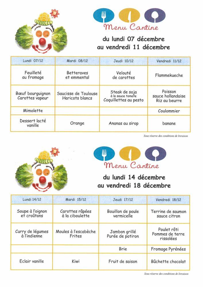 menus 07.12 – 18.12