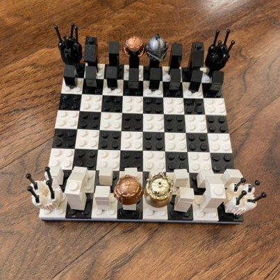 Chess Board: I like playing chess and legos and wanted to create one with lego bricks.