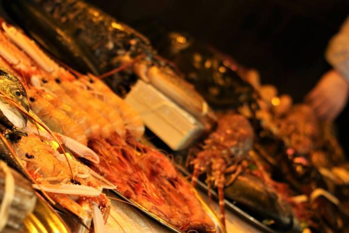 pescado marisco port olimpic