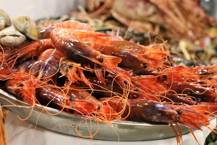 Unglaubliches Restaurant mit frischen Meeresfrüchten neben den Stränden von Barcelona