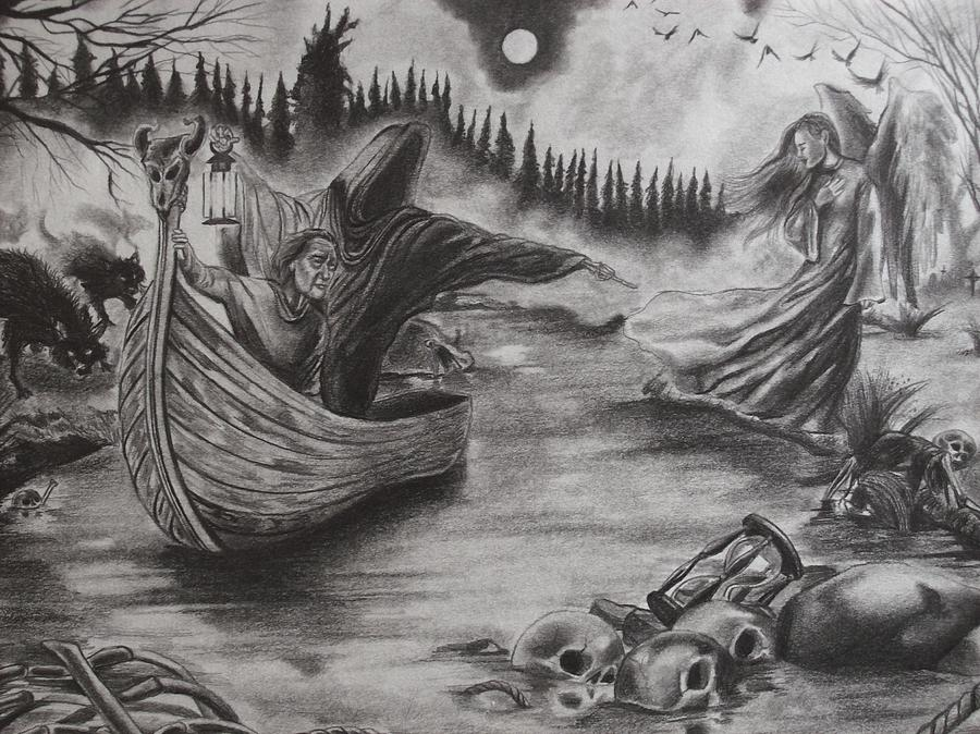 Mad Seasons - The River Of Deceit (Drawing by Amber Stanford)