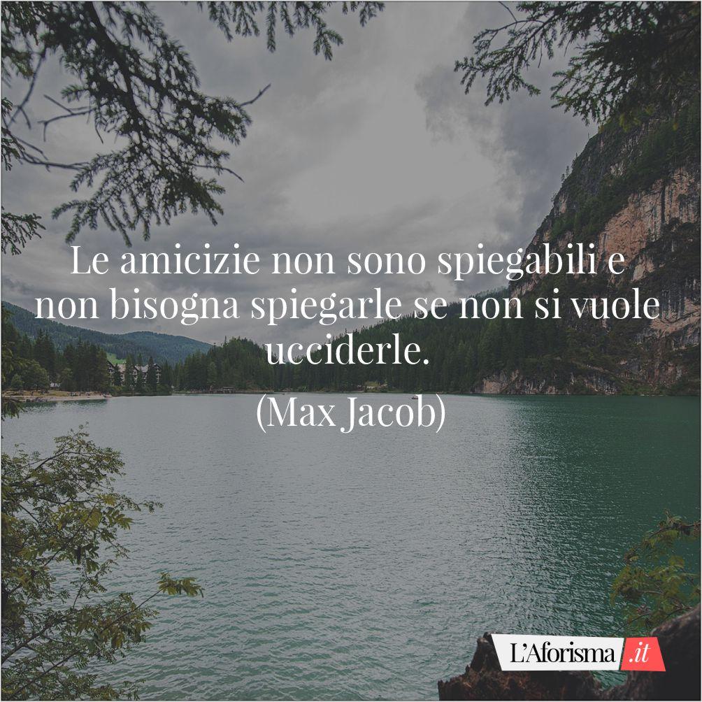 Le amicizie non sono spiegabili e non bisogna spiegarle se non si vuole ucciderle. (Max Jacob)